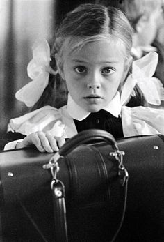 Russian photography. Nikolay Filippov. For the First Time at School. 1973. #Russia #photography
