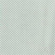 Coton enduit mini pois vert d'eau