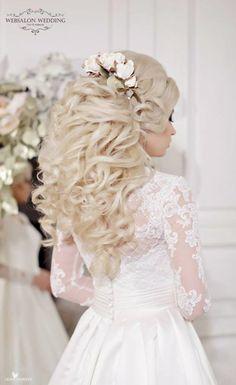Featured Hairstyle: Websalon Wedding, Anna Komarova; www.websalon.su; Featured Photo: Liliya Fadeeva; Wedding hairstyle idea.