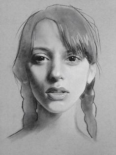 Portraiture and figurative arts in every style and medium. Life Drawing, Figure Drawing, Drawing Sketches, Painting & Drawing, Portrait Sketches, Pencil Portrait, Portrait Art, Charcoal Portraits, Charcoal Art