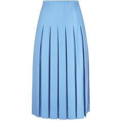 Victoria Beckham Pleated Midi Skirt ($1,775) ❤ liked on Polyvore featuring skirts, midi skirts, box pleat skirt, knee length pleated skirt, pleated skirt and box-pleat skirt