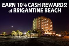 Book direct at Brigantine Beach & get cash rewards on your stay! Book now! Vacation Club, Vacation Resorts, Brigantine Beach, New Jersey Beaches, Beach Town, Empire State Building, Island, Book, Travel