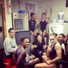 US gymnasts - got to love the training room! Olympic Games Sports, Olympic Gymnastics, Olympic Team, Gymnastics Girls, Gymnastics Bedroom, Fierce 5, Gym Group, Gymnastics Training, Jordyn Wieber