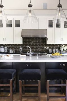 light fixtures, cabinets, barstools