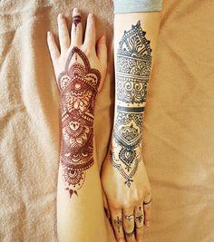 #Henna #neha_mehandi #temporäres_Tattoo #temporary_tattoo #selfmade #henna_by_rinkitoku #blaue_Farbe #blue_colour #rote_Farbe #red_colour #friends #Jaguagel