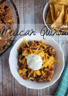 Mexican Quinoa - Side Dish or burrito filling -  from Nap-Time Creations