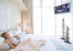 Tips for the bedroom - Do not have a television facing the bed and cover it when not in use. Lillian.too.com