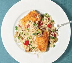 Chicken and Rice With Peas Recipe Recipe   Real Simple Mobile