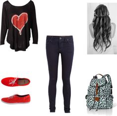 """School look!"" by allynic99 ❤ liked on Polyvore"