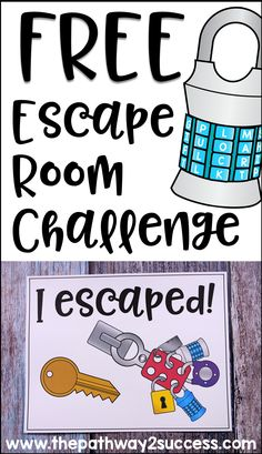 This free escape room activity is a puzzle challenge related to executive functioning skills. Students can work together or independently to solve a puzzle and discover the secret phrase to unlock the door and win the challenge in a specified amount of ti Escape Room Diy, Escape Room For Kids, Escape Room Puzzles, Breakout Edu, Breakout Boxes, Team Building Activities, Activities For Kids, Teacher Team Building, Youth Group Activities