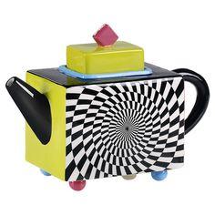 Found it at Wayfair - Bright Cubist Teapot in Black & White