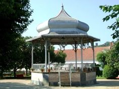 Gazebo in a public park to serve as bandstand.