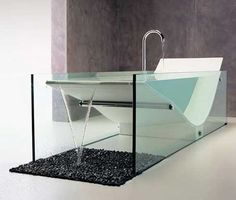 Beautiful bath inspired by Le Corbusier