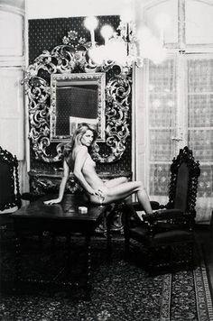 Charlotte Rampling at the Hotel Nord Pinus II, Arles, 1973 by Helmut Newton.