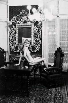 Charlotte Rampling at the Hotel Nord Pinus II, Arles, 1973 by Helmut Newton.