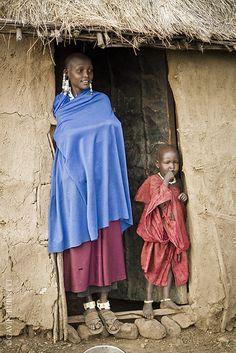 maasai boma, tanzania by gavin.burnett, via Flickr