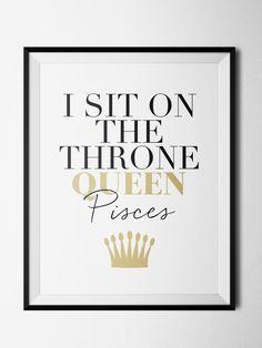 Pisces Throne Print