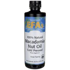 Buy Swanson EFAs Natural Macadamia Nut Oil Cold Pressed at Megavitamins Online Supplement Store Australia. Macadamia Nut Oil is mainly for preserve its natural concentrations of vitamins and enzymes. Supplements For Hair Loss, Natural Supplements, Great Lakes Gelatin, Walnut Oil, Macadamia Oil, Safflower Oil, Essential Fatty Acids, Calorie Diet