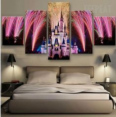 Disney Celebration 5 Pc Canvas
