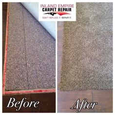 Yucaipa Carpet Stretch and carpet to wood tuck