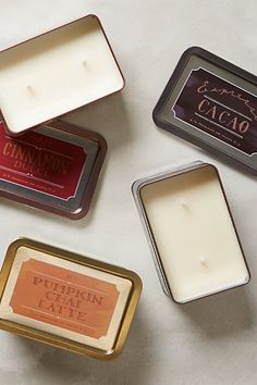 yummy bistro candle tins - 20% off with code: EXTRAJOLLY #anthrofave http://rstyle.me/n/t97yipdpe