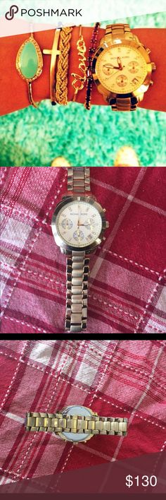 Michael Kors watch ⌚️ Michael Kors Watch with diamonds instead of the numbers. Brand new battery in watch. Michael Kors Accessories Watches