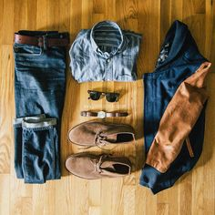 Bomber jacket + chukka boots + Ray Bans and Jeans = Yes. // Via stayclassicblog.com