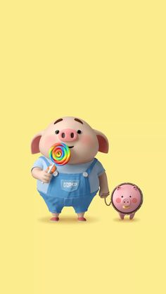 The way to hold the pig correctly is to slowly pick up the pig's shoulder blade. If the pig is… Pig Wallpaper, Cute Disney Wallpaper, Cute Cartoon Wallpapers, Iphone Wallpaper, Pet Pigs, Baby Pigs, This Little Piggy, Little Pigs, Kawaii Pig