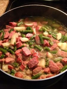 Green beans, Red Potatoes, and TurkeySausage - 4pp+