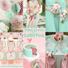 Mint Green and Ballet Pink Wedding Colors | #exclusivelyweddings | #weddingcolors