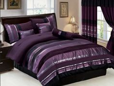 Even though we can not all be Emperors, Kings, or royalty but, we can still live in splendor and surround ourselves with warmth and coolness. Since purple is made from Red and Blue, hence warmth and coolness. #purplebeddingset #bedding
