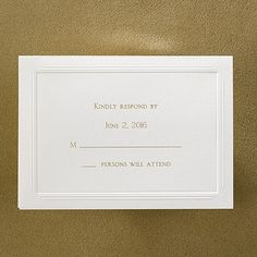 Gentle Borders - Respond Card and Envelope weddingneeds.carlsoncraft.com