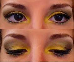 Yellow eyeshadow-would be very Hunger games capitol with another color