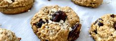 Biscuits santé aux canneberges sans sucre ajouté Healthy Muffins, Healthy Cookies, Healthy Desserts, Healthy Recipes, Healthy Granola Bars, Chewy Granola Bars, Desserts Sains, Cranberry Cookies, Unsweetened Applesauce