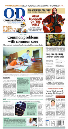 The front page for Wednesday, Oct. 9, 2013: Common problems with common core