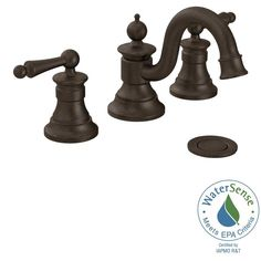 MOEN Waterhill 8 in. Widespread 2-Handle High-Arc Bathroom Faucet Trim Kit in Oil Rubbed Bronze (Valve Not Included)