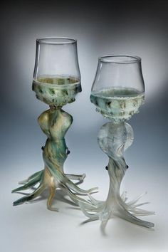 """Squid Goblets"" by glass artist Codey Nicely -source-"