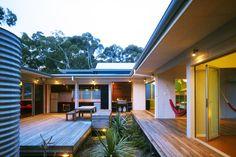 Seal Rocks House is a Net Zero Energy Surfer's Haven in Australia. Rain water conservation+solar