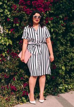 Платье-рубашка — неплохой офисный вариант для полных женщин и для женщин старше 40