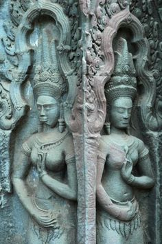 I can't wait to go to Cambodia someday Laos, Vietnam, Angkor Wat Cambodia, Khmer Empire, Cambodia Travel, Ancient Civilizations, Stone Carving, Ancient Art, Historical Sites