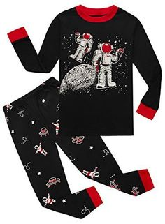 IF Pajamas Earth Space Baby Boys Long Sleeve Pajamas Sets 100% Cotton Sleepwears Toddler Infant Kids 12-18 Months