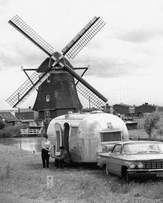 Vintage camping image.