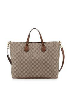 07f5001db89 Gucci GG Supreme Top-Handle Tote Bag