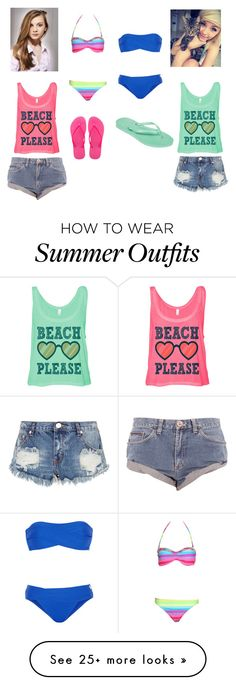 """Beach please"" by lyndseymae on Polyvore featuring La Perla, Boohoo, One Teaspoon, Havaianas and Mixit"