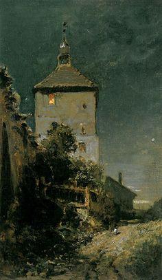 Der Blasturm in Schwandorf (Carl Spitzweg) - Carl Spitzweg – Wikipedia
