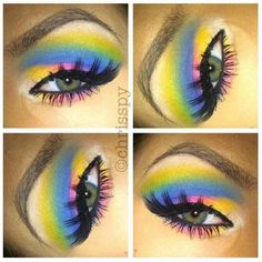 Rainbow Makeup. What fun for Halloween or just to have a blast with!