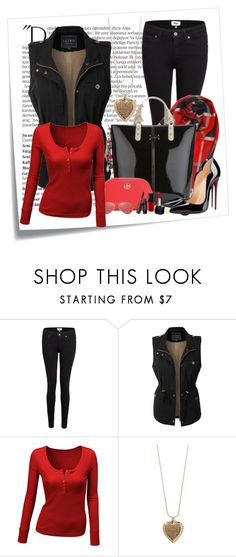 """""""Untitled #364"""" by elanorjoy ❤ liked on Polyvore featuring Post-It, Balmain, Paige Denim, LE3NO, Doublju and Forever 21"""
