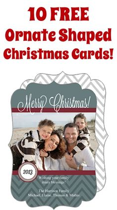 10 FREE Ornate Shaped Christmas Cards!  {just pay s/h}