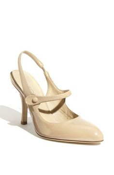 these remind me of the Paten leather Mary Jane heels by Manolo Blahnik Sock Shoes, Shoe Boots, Women's Shoes, Tan Brown Shoes, Nordstrom Shoes, Professional Shoes, Manolo Blahnik Heels, Mary Jane Heels, Fashion Heels