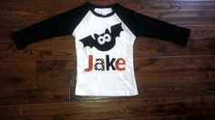 Boy's Bat Halloween Applique Shirt by TheHeartCreations on Etsy, $23.75
